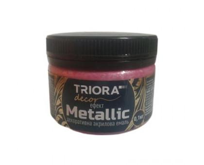 Эмаль акриловая декоративная Triora Metallic розовый шелк (0,1 кг)