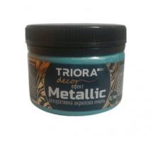 Эмаль акриловая декоративная Triora Metallic изумруд (0,1 кг)