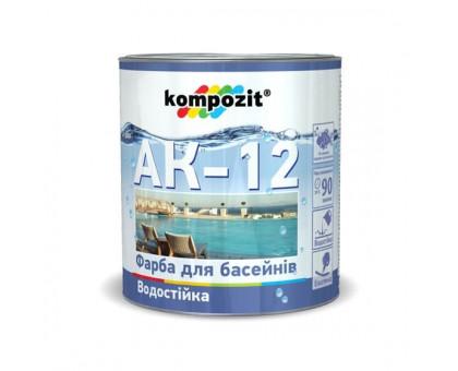 Краска для бассейнов Kompozit AK-12 (2,8 кг) голубая