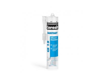 Санитарный силиконовый герметик Ceresit CS 15