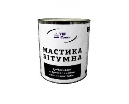 Мастика битумная гидроизоляционная антикоррозийная УкрСоюз (0,9 кг)