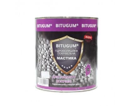 Мастика битумно-каучуковая кровельная BITUGUM (3 кг, 5 кг)