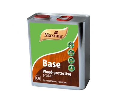 Деревозащитная грунтовка Maxima BASE (2,5 л) бесцветная